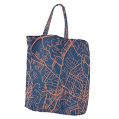 Virginia Map Art City Giant Grocery Zipper Tote