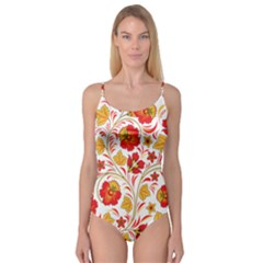 Wreaths Flower Floral Sexy Red Sunflower Star Rose Camisole Leotard