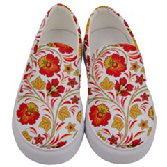 Wreaths Flower Floral Sexy Red Sunflower Star Rose Men s Canvas Slip Ons