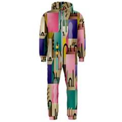 Magazine Balance Plaid Rainbow Hooded Jumpsuit (men)
