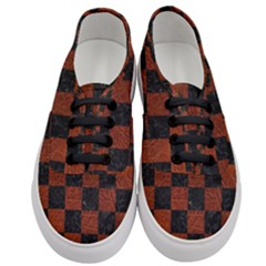 Square1 Black Marble & Reddish Brown Leather Women s Classic Low Top Sneakers