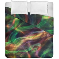 Abstract Shiny Night Lights 3 Duvet Cover Double Side (california King Size)