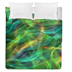 Abstract Shiny Night Lights 8 Duvet Cover Double Side (queen Size)