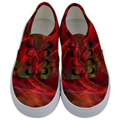 Abstract Shiny Night Lights 12 Kids  Classic Low Top Sneakers