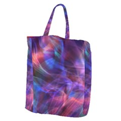 Abstract Shiny Night Lights 20 Giant Grocery Zipper Tote