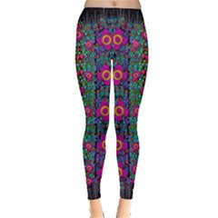 Flowers From Paradise Colors And Star Rain Leggings
