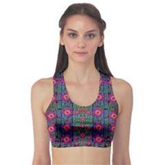 Flowers From Paradise Colors And Star Rain Sports Bra
