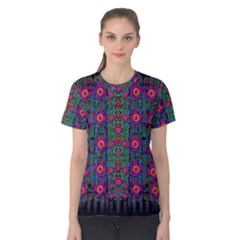 Flowers From Paradise Colors And Star Rain Women s Cotton Tee