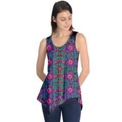 Flowers From Paradise Colors And Star Rain Sleeveless Tunic