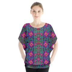 Flowers From Paradise Colors And Star Rain Blouse
