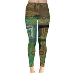 Light And Dark World Map Leggings
