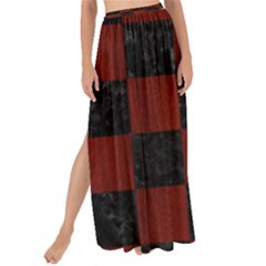 Square1 Black Marble & Reddish Brown Wood Maxi Chiffon Tie Up Sarong