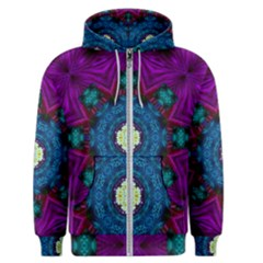 Sunshine Mandala And Fantasy Snow Floral Men s Zipper Hoodie