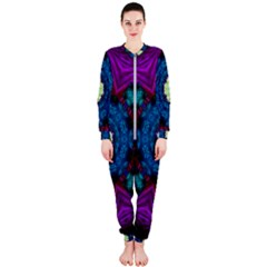 Sunshine Mandala And Fantasy Snow Floral Onepiece Jumpsuit (ladies)
