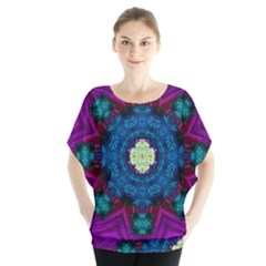 Sunshine Mandala And Fantasy Snow Floral Blouse