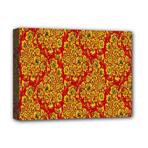 Flower Rose Red Yellow Sexy Deluxe Canvas 16  X 12