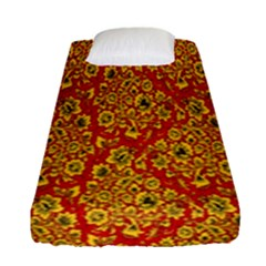 Flower Rose Red Yellow Sexy Fitted Sheet (single Size)