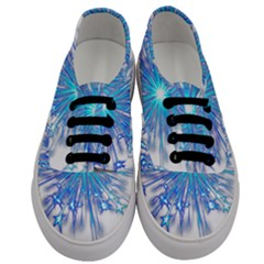 Fireworks Sky Blue Silver Light Star Sexy Men s Classic Low Top Sneakers