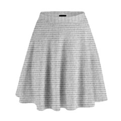 Line Black White Camuflage Polka Dots High Waist Skirt