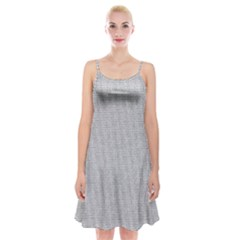 Line Black White Camuflage Polka Dots Spaghetti Strap Velvet Dress