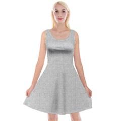Line Black White Camuflage Polka Dots Reversible Velvet Sleeveless Dress
