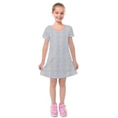 Line Black White Camuflage Polka Dots Kids  Short Sleeve Velvet Dress
