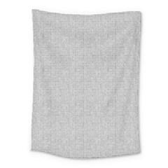 Line Black White Camuflage Polka Dots Medium Tapestry