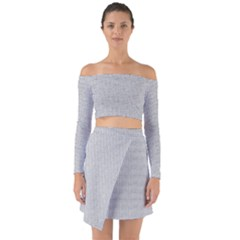 Line Black White Camuflage Polka Dots Off Shoulder Top With Skirt Set
