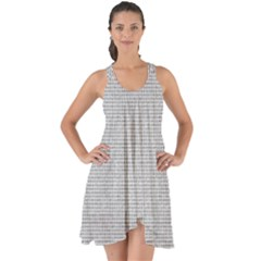 Line Black White Camuflage Polka Dots Show Some Back Chiffon Dress