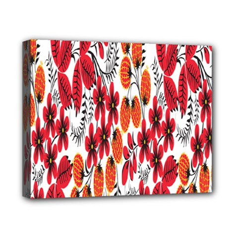 Rose Flower Red Orange Canvas 10  X 8