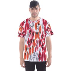 Rose Flower Red Orange Men s Sports Mesh Tee