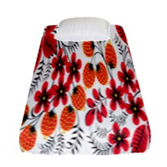 Rose Flower Red Orange Fitted Sheet (single Size)