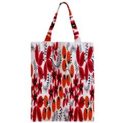 Rose Flower Red Orange Zipper Classic Tote Bag