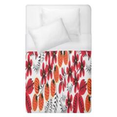 Rose Flower Red Orange Duvet Cover (single Size)
