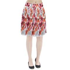 Rose Flower Red Orange Pleated Skirt
