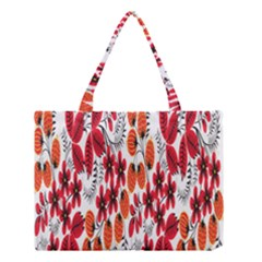 Rose Flower Red Orange Medium Tote Bag