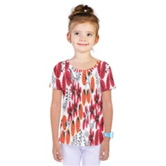 Rose Flower Red Orange Kids  One Piece Tee