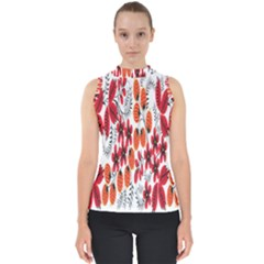 Rose Flower Red Orange Shell Top