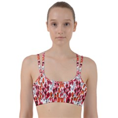 Rose Flower Red Orange Line Them Up Sports Bra