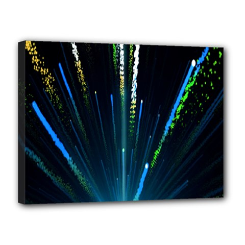 Seamless Colorful Blue Light Fireworks Sky Black Ultra Canvas 16  X 12