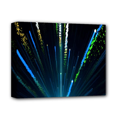 Seamless Colorful Blue Light Fireworks Sky Black Ultra Deluxe Canvas 14  X 11