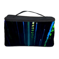 Seamless Colorful Blue Light Fireworks Sky Black Ultra Cosmetic Storage Case
