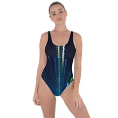 Seamless Colorful Blue Light Fireworks Sky Black Ultra Bring Sexy Back Swimsuit