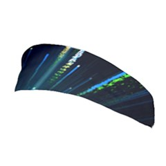 Seamless Colorful Blue Light Fireworks Sky Black Ultra Stretchable Headband