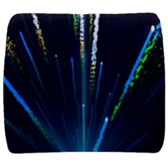 Seamless Colorful Blue Light Fireworks Sky Black Ultra Back Support Cushion