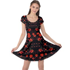 Pumkins And Roses From The Fantasy Garden Cap Sleeve Dress