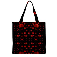 Pumkins And Roses From The Fantasy Garden Zipper Grocery Tote Bag