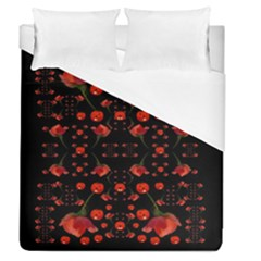 Pumkins And Roses From The Fantasy Garden Duvet Cover (queen Size)