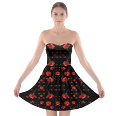 Pumkins And Roses From The Fantasy Garden Strapless Bra Top Dress
