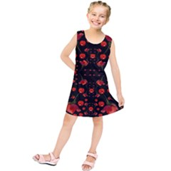 Pumkins And Roses From The Fantasy Garden Kids  Tunic Dress